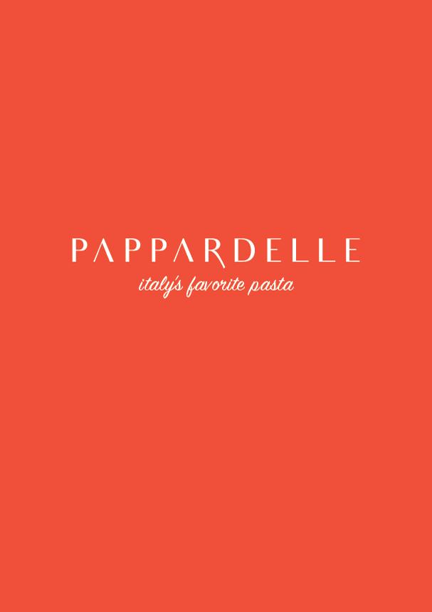 pappardelle // the logo series (phylleli) #typography #design #graphicdesign #pappardelle #italy #branding #logodesign #pasta #designblog #designer
