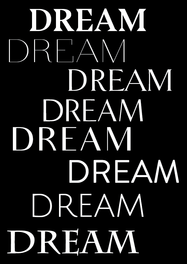 dream typography poster // phylleli design studio and blog