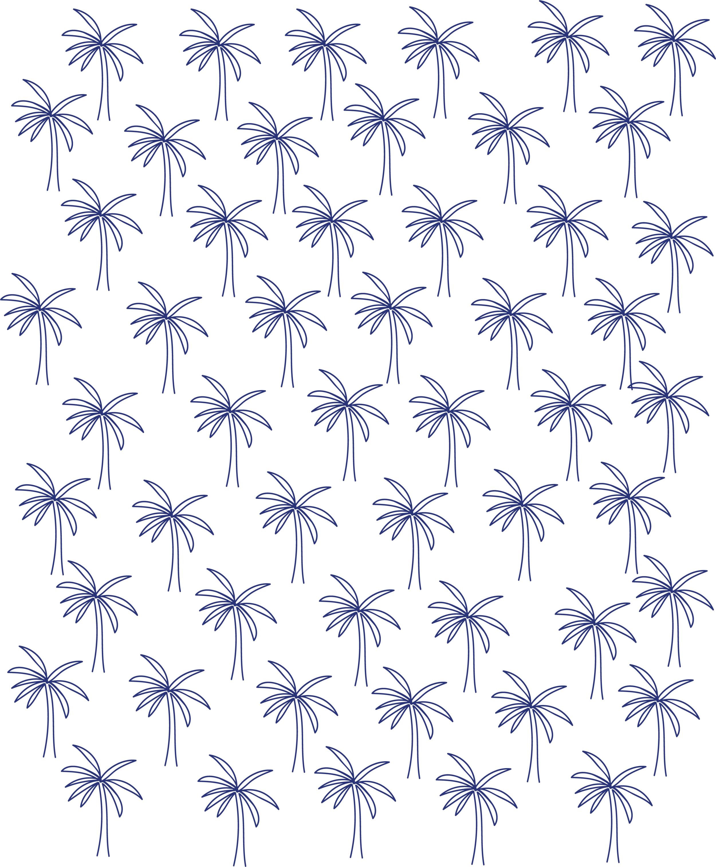 palm tree illustration pattern // phylleli design studio and blog