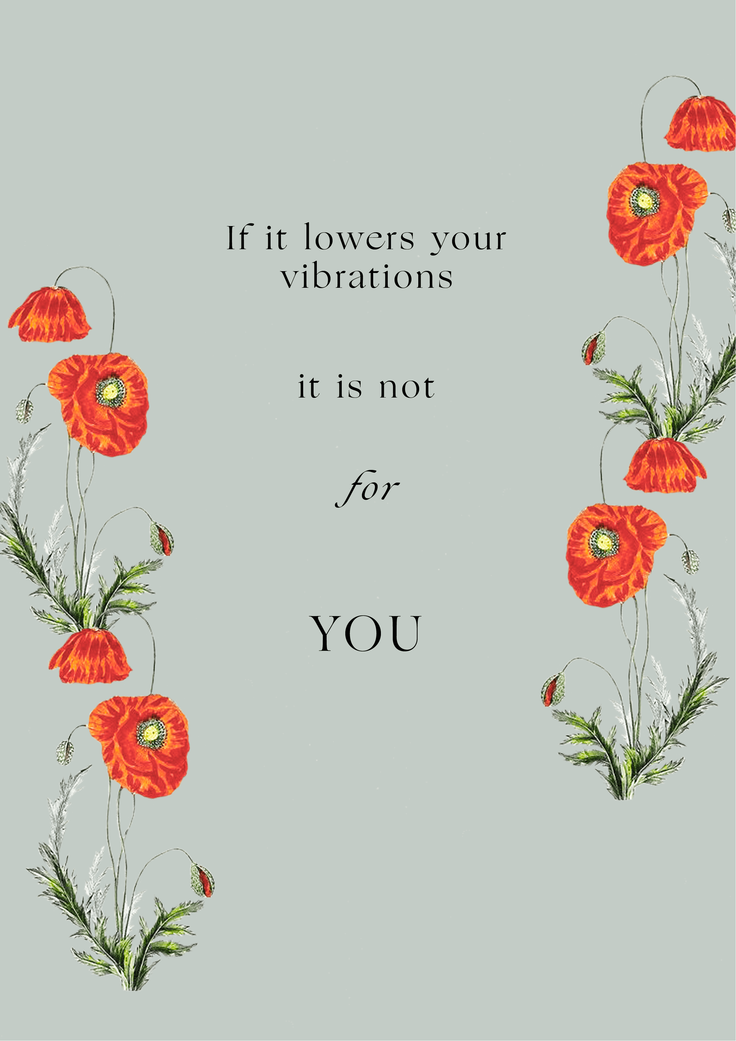 if it lowers your vibrations, it is not for you // phylleli design studio and blog