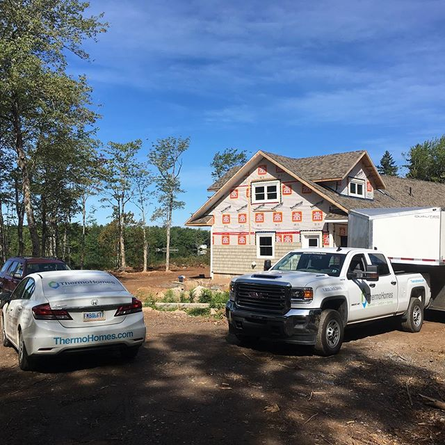 Spray foam insulation project with Palmer Homes and Cottages.  Why stay for summer when you can stay year round...going to be a cozy cottage!