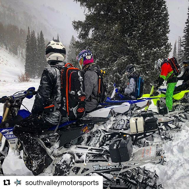Utah snowbikers head in to South Valley to get your #snowbike bottoming kit! #Repost @southvalleymotorsports with @get_repost ・・・ Our first SVM Employee Snowbike Ride Day was a success.