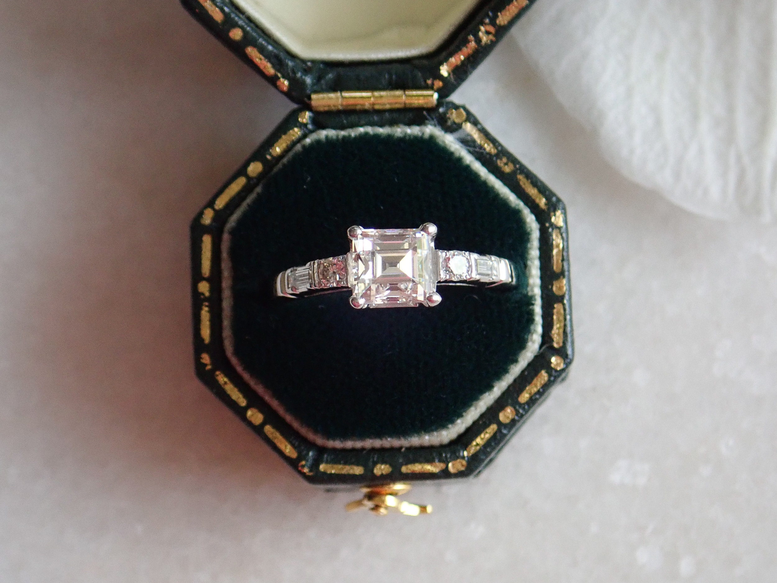 Once you've approved the design and wax model, - I work with my talented master craftsmen to create your new one-of-a-kind engagement ring. Every intricate detail is meticulously crafted for quality that will last generations. Then comes my favorite part — presenting you with your new jewelry! I absolutely love bringing your vision to life.