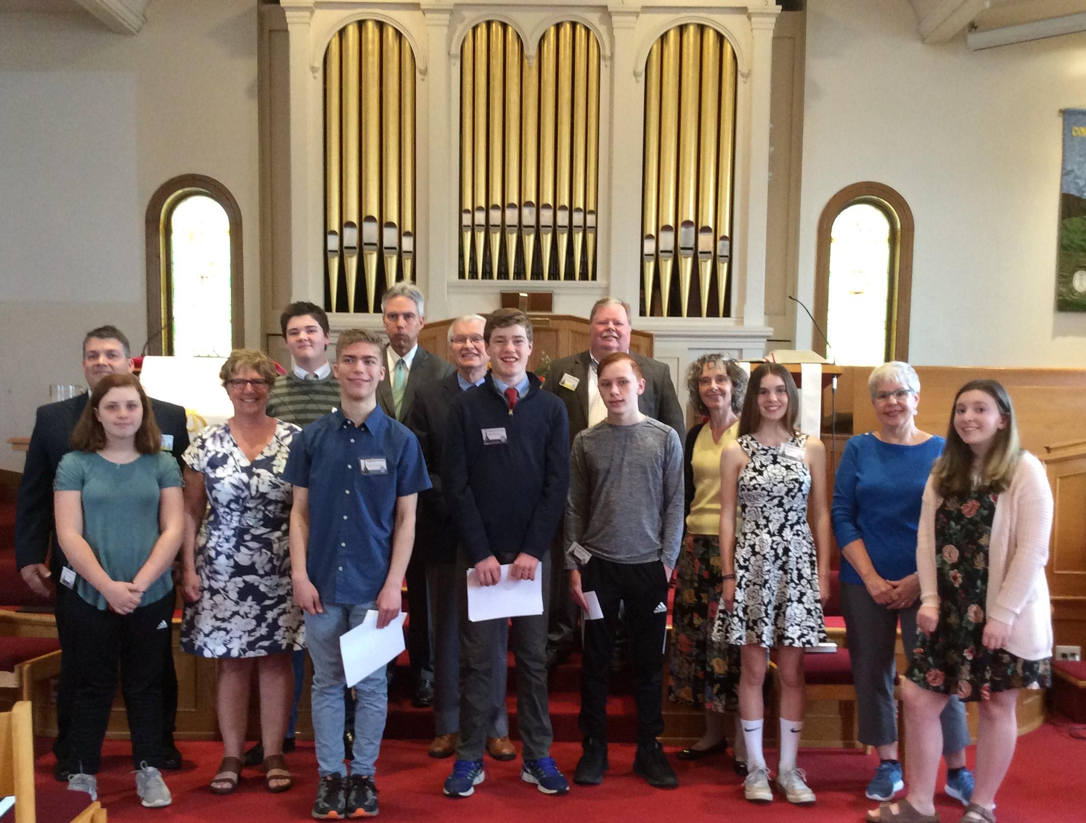 confirmation group 2018 sanctuary.JPG