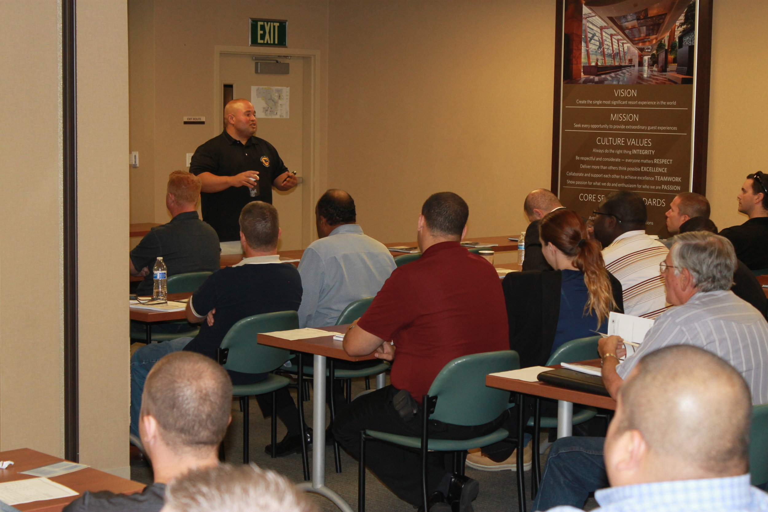 Instructor Henry Bermudez delivering training sponsored by New Jersey Office of Homeland Security and Preparedness.
