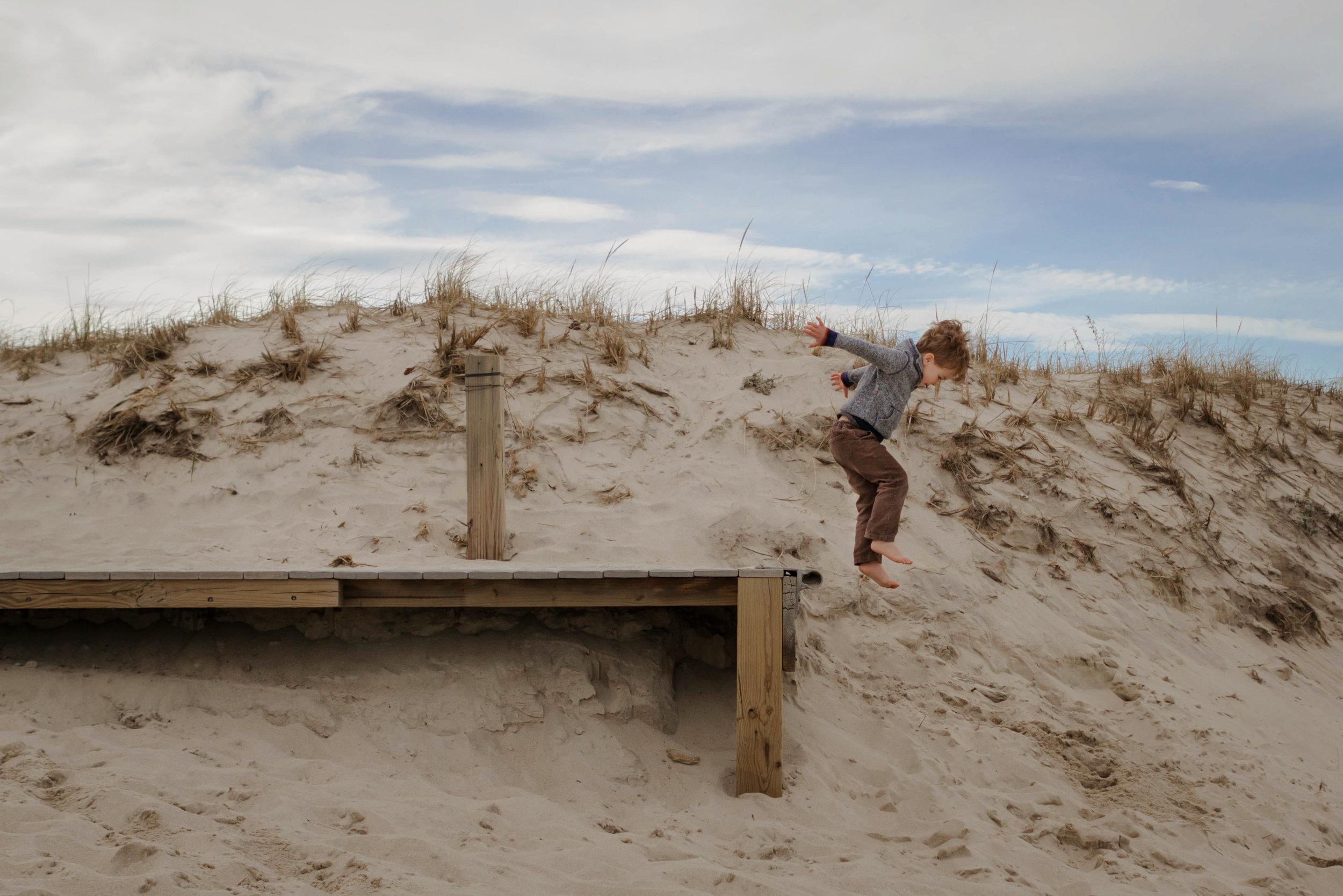 jumping for joy at nauset - laura barr photography