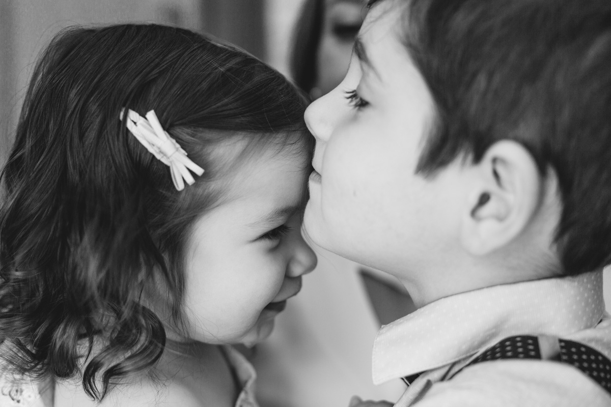 brother and sister kisses