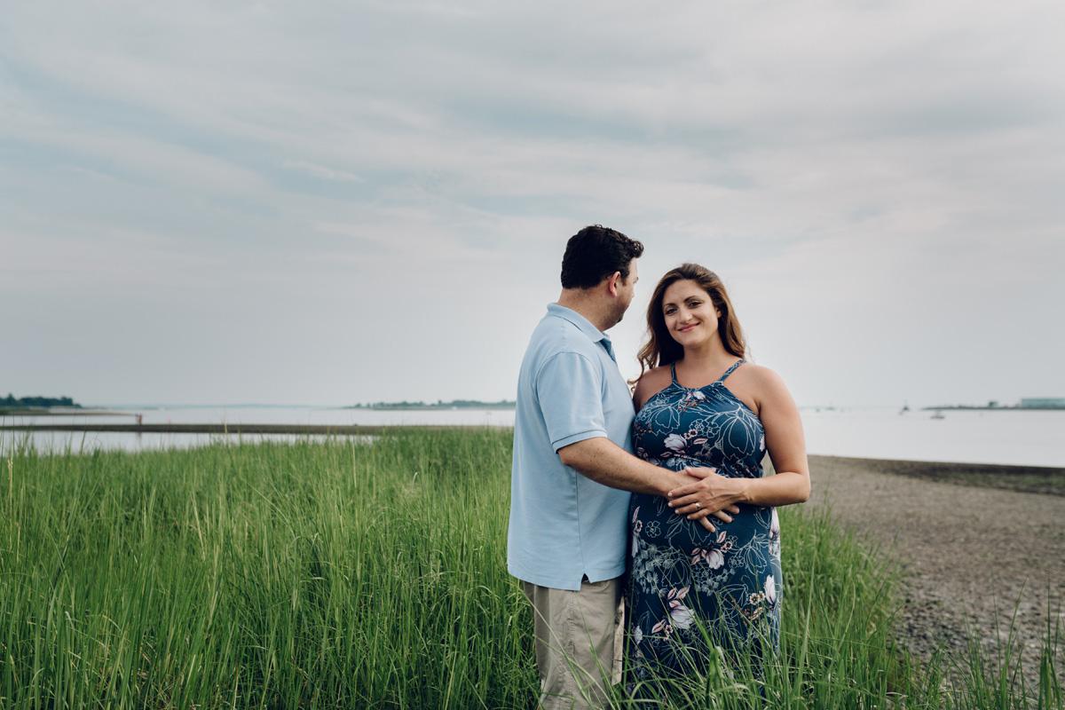 calf pasture beach couples shoot