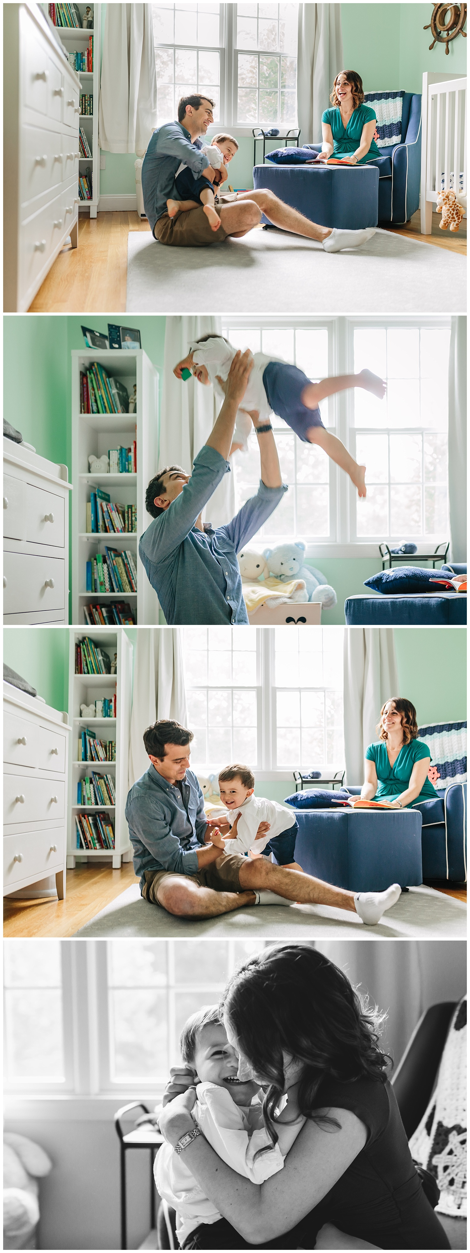 sweet indoor family session by laura barr photography