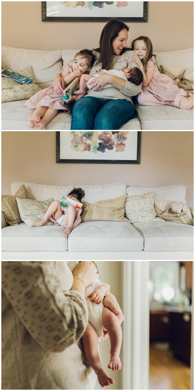 darien lifestyle newborn session
