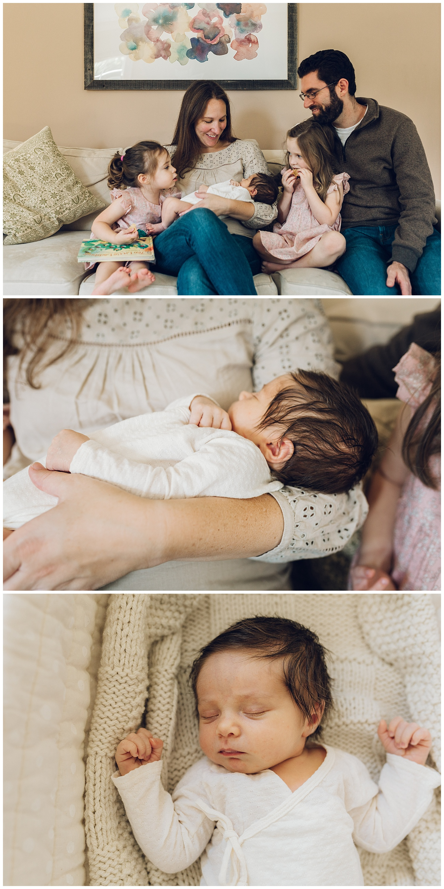 natural family newborn session by laura barr photography