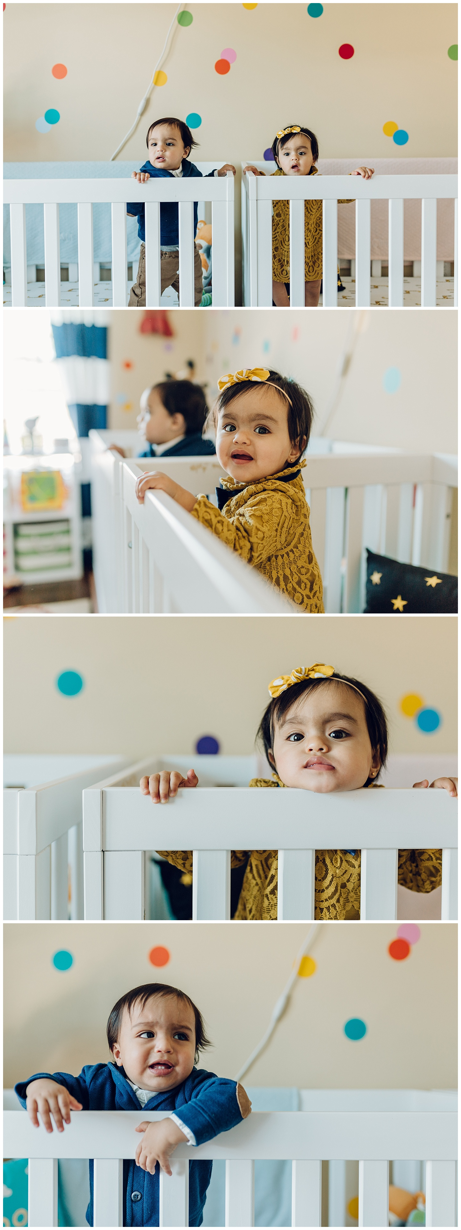 twins in nursery  by laura barr photography