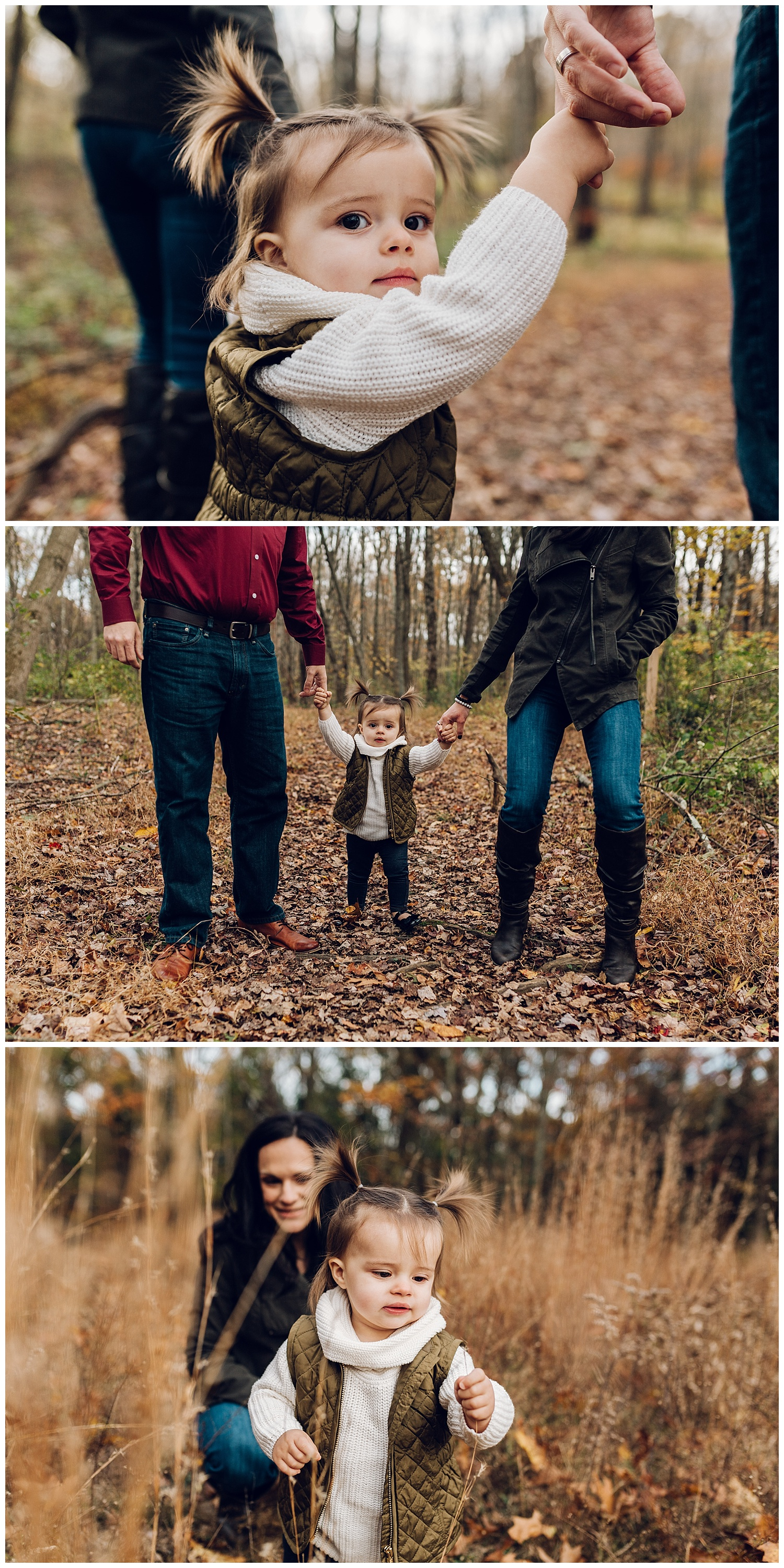 family photography in the woods