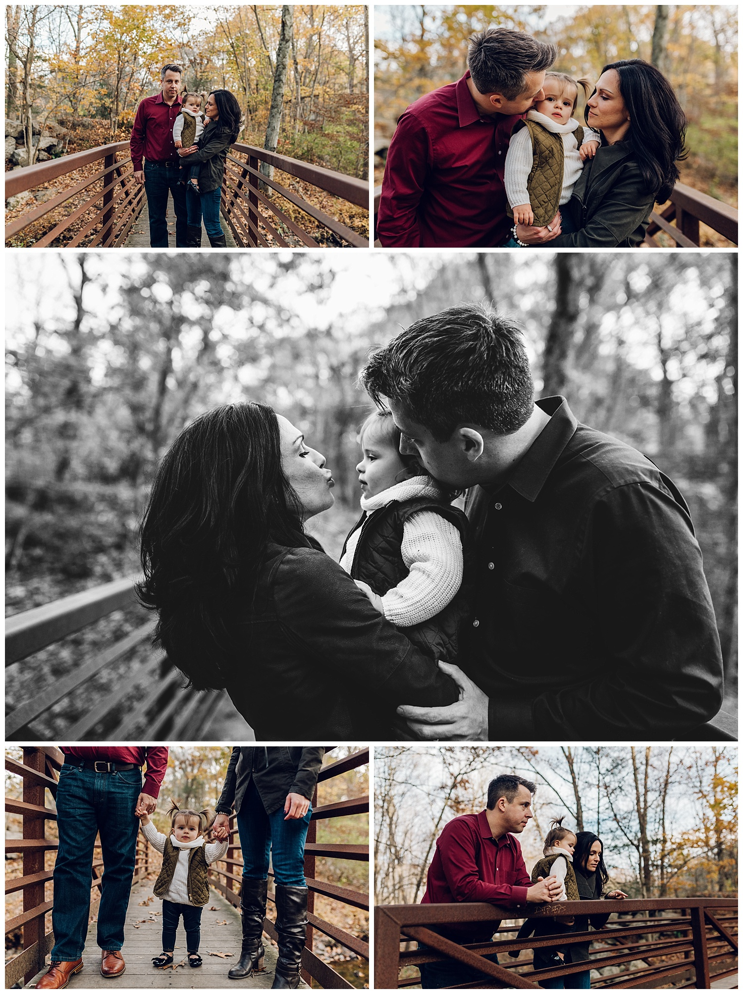 connecticut family on bridge by laura barr photography