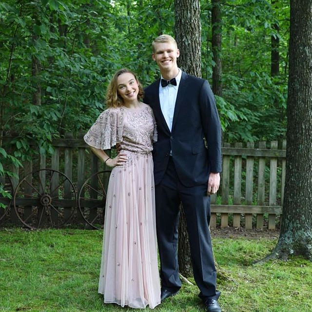 Obsessed with this embellished dress on @h.annahmcdaniel 🤩🤩🤩 Thanks for sharing your prom photos!