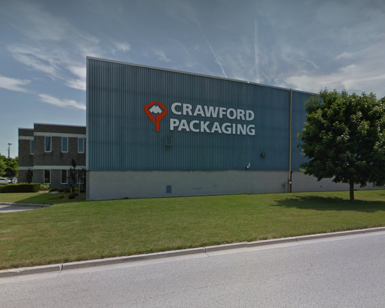 The Original Crawford Packaging Warehouse Building Logo