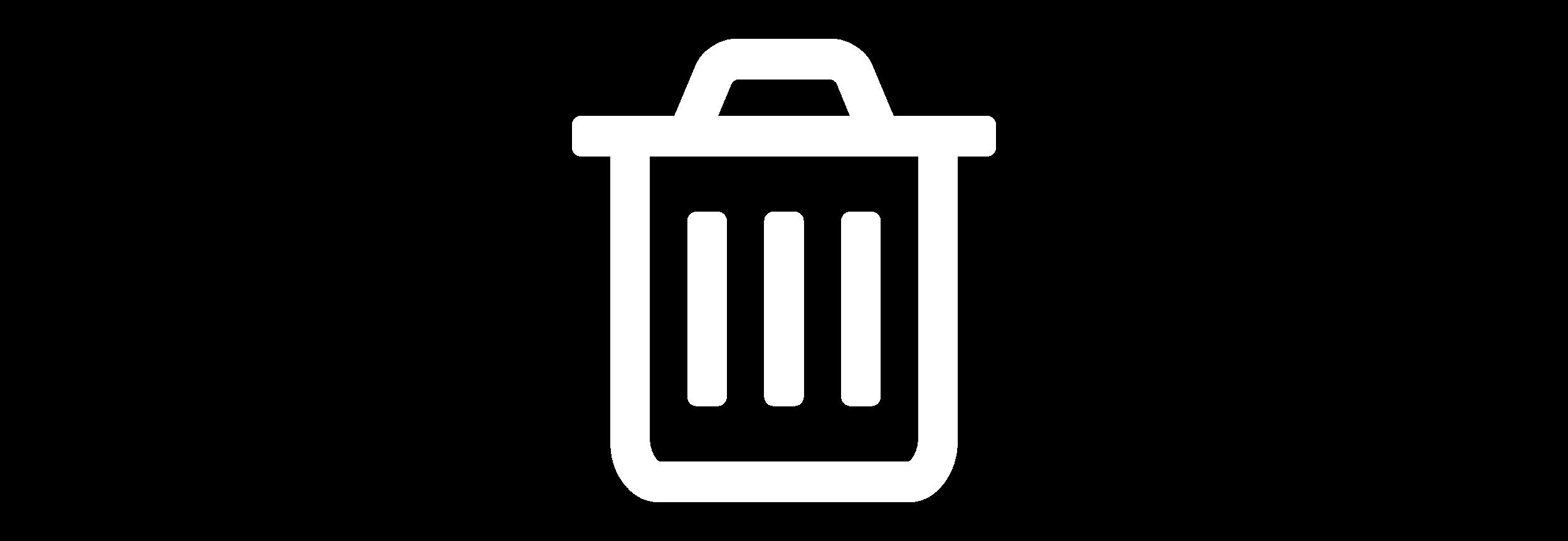 Garbage Can White Icon