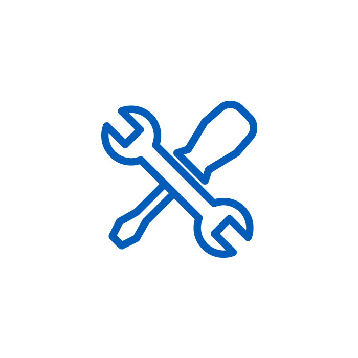 Blue Wrench and Screwdriver Icon
