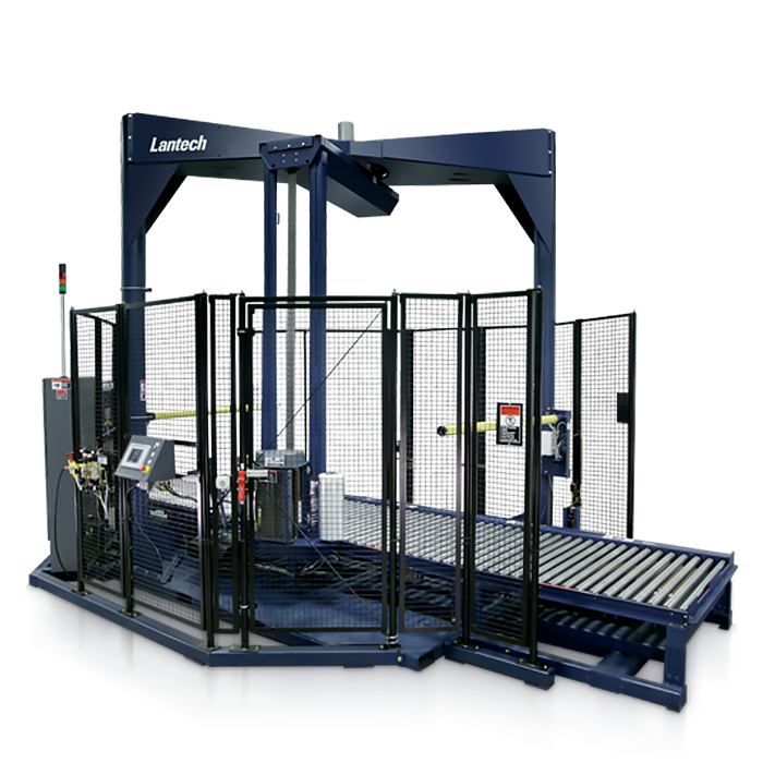 Lantech Automatic Rotary Arm Stretch Wrapper with Conveyor System