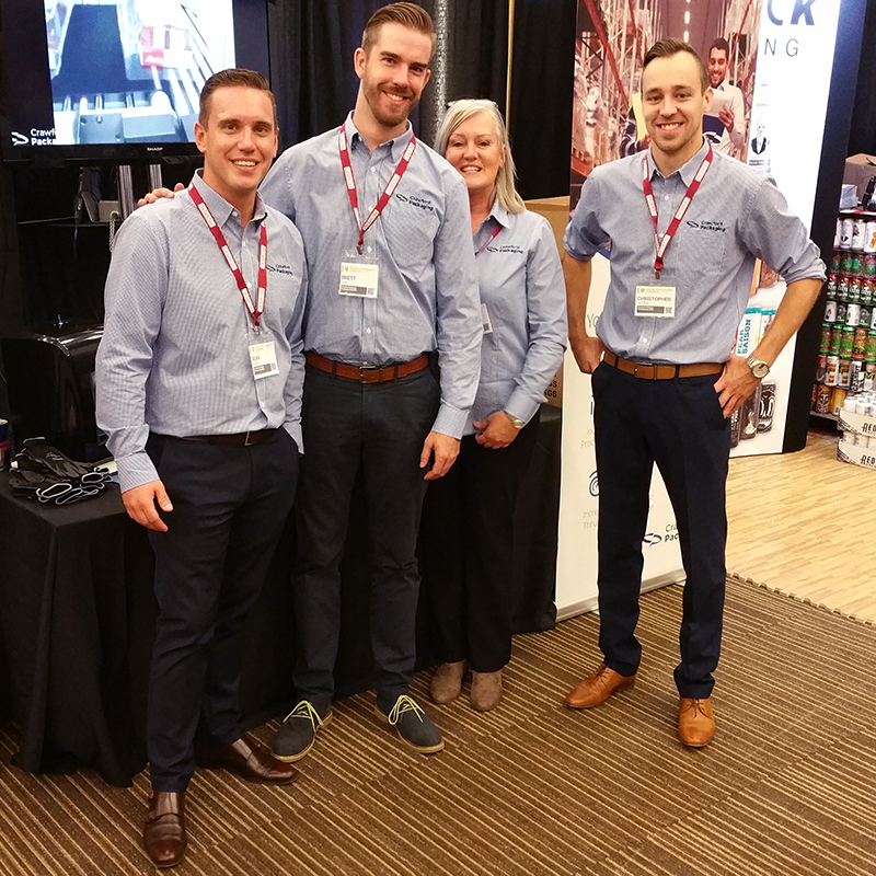 Crawford Packaging attending the Ontario Craft Brewers Conference on October 19, 2017