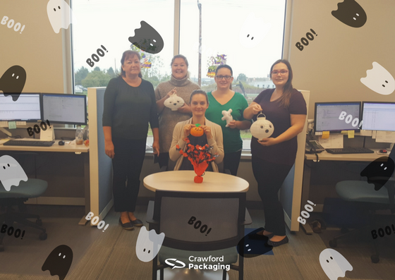 Customer Care Decorating for Halloween