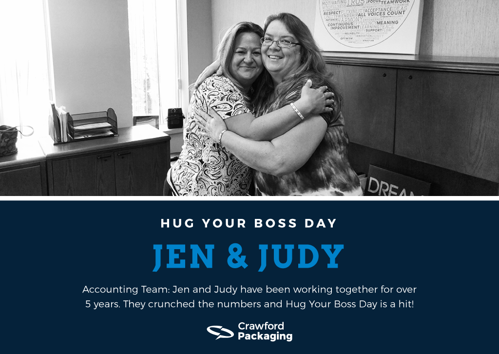 Jen and Judy - Hug Your Boss Day