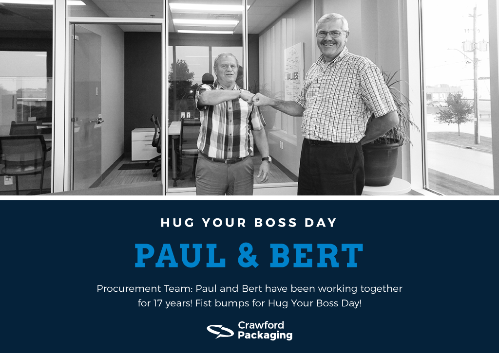 Paul and Bert - Hug Your Boss Day