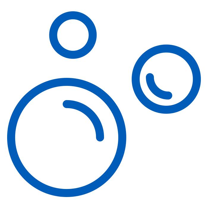 blue icon of soap bubbles