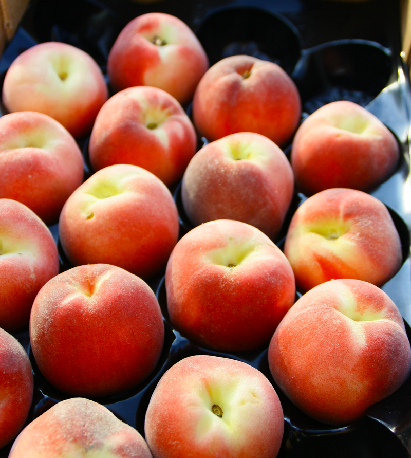 Peaches Packed in Black GrowPack Insert Trays
