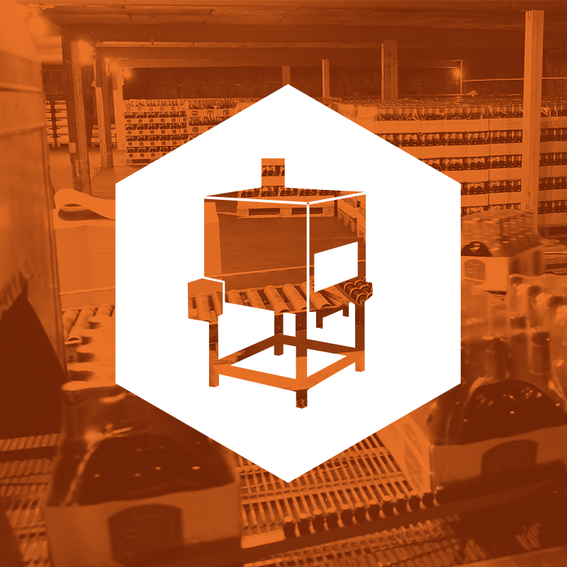 shrink it right icon on top of orange colour background of a shrink wrap line