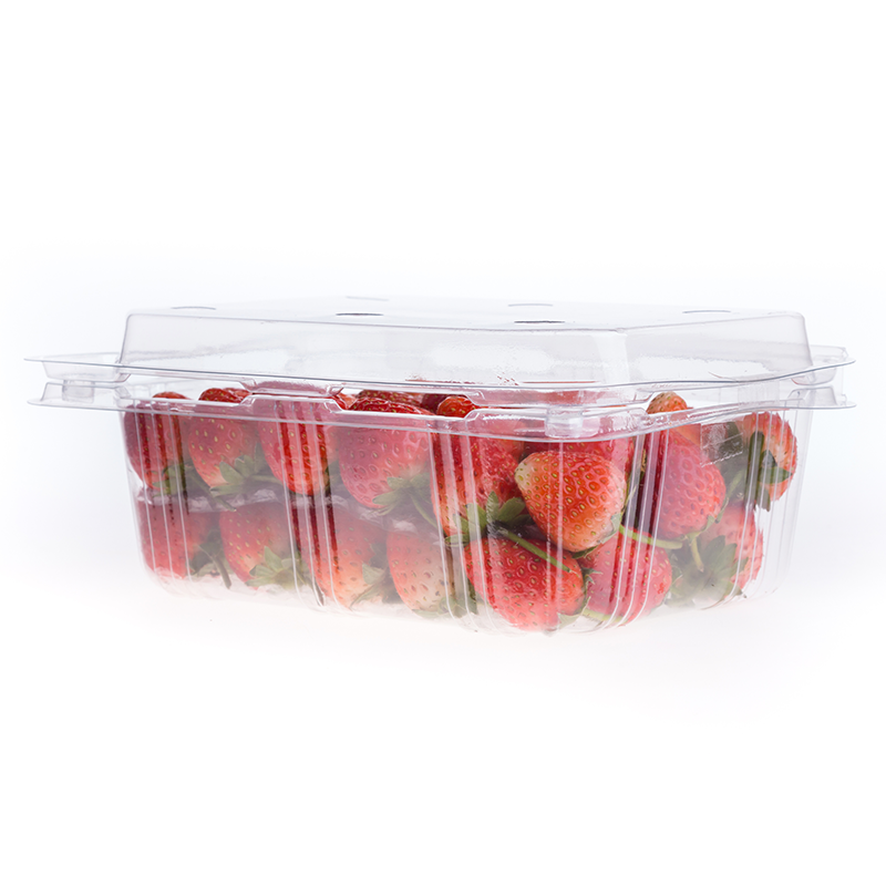 strawberries packed in clear clamshell growpack produce packaging container