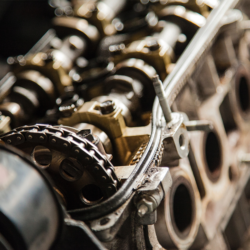 photo of an automobile engine close up