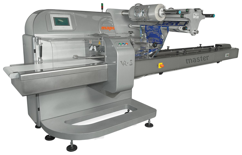 rgd mape vr-8 master flow wrapper machine on white background