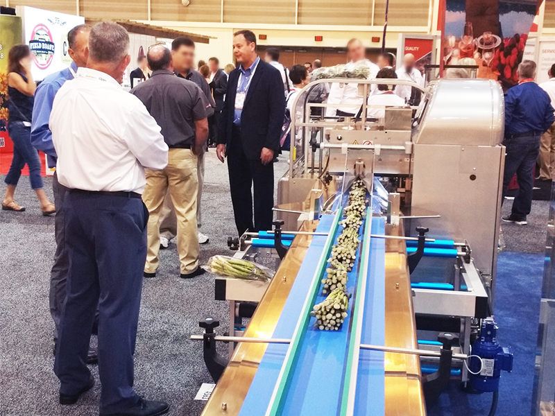 rgd mape flow wrapper in feed conveyor at pma expo and trade show