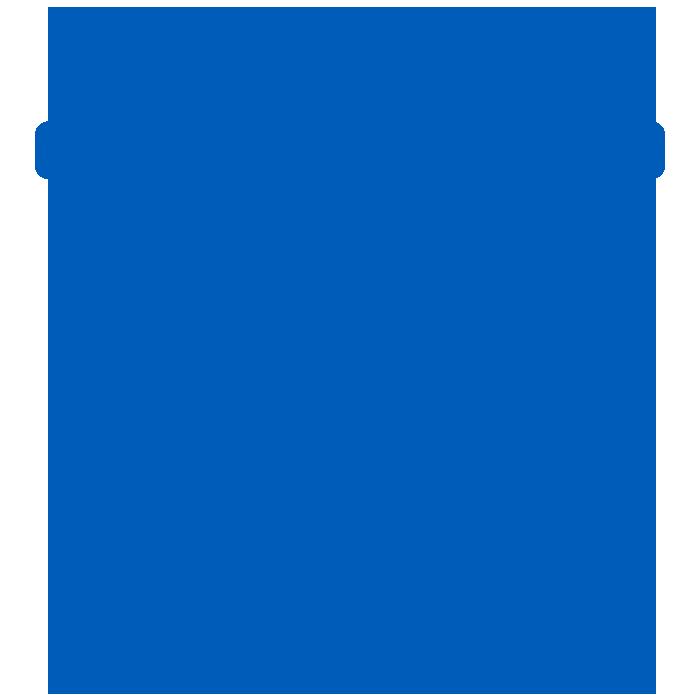 icon of blue garbage bin