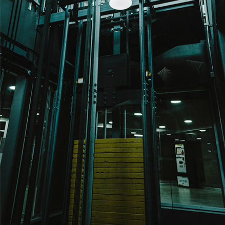 dark elevator shaft