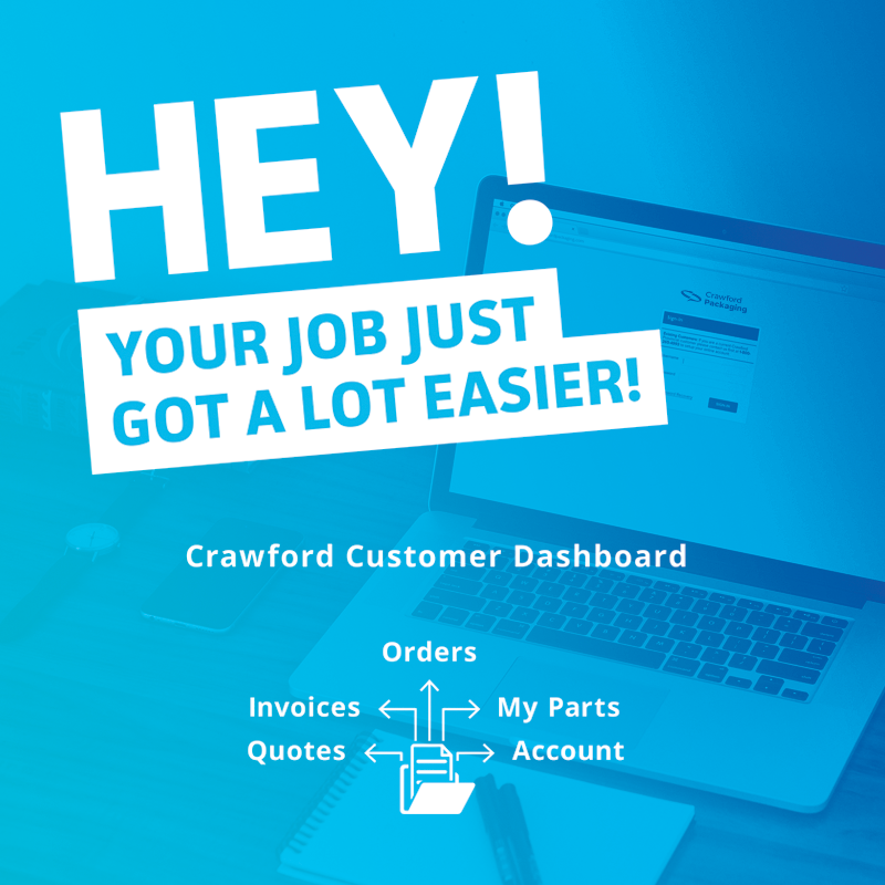 blue gradient graphic with white text overlay that reads hey your job just got easier