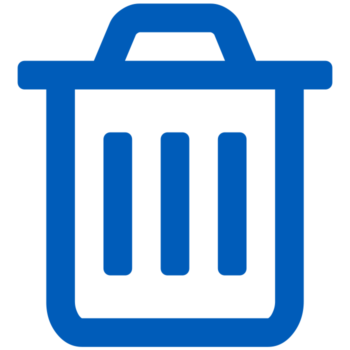 icon of blue garbage can