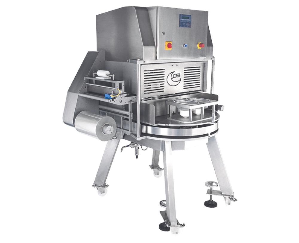 Packaging Automation PA182 – a semi-automatic tray sealing machine.