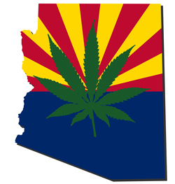 Arizona - In 2010, voters approved Proposition 203 by 50.13% to allow registered qualifying patients (who must have a physician's written certification that they have been diagnosed with a debilitating condition and that they would likely receive benefit from marijuana) to obtain marijuana from a registered nonprofit dispensary, and to possess and use medical marijuana to treat the condition.