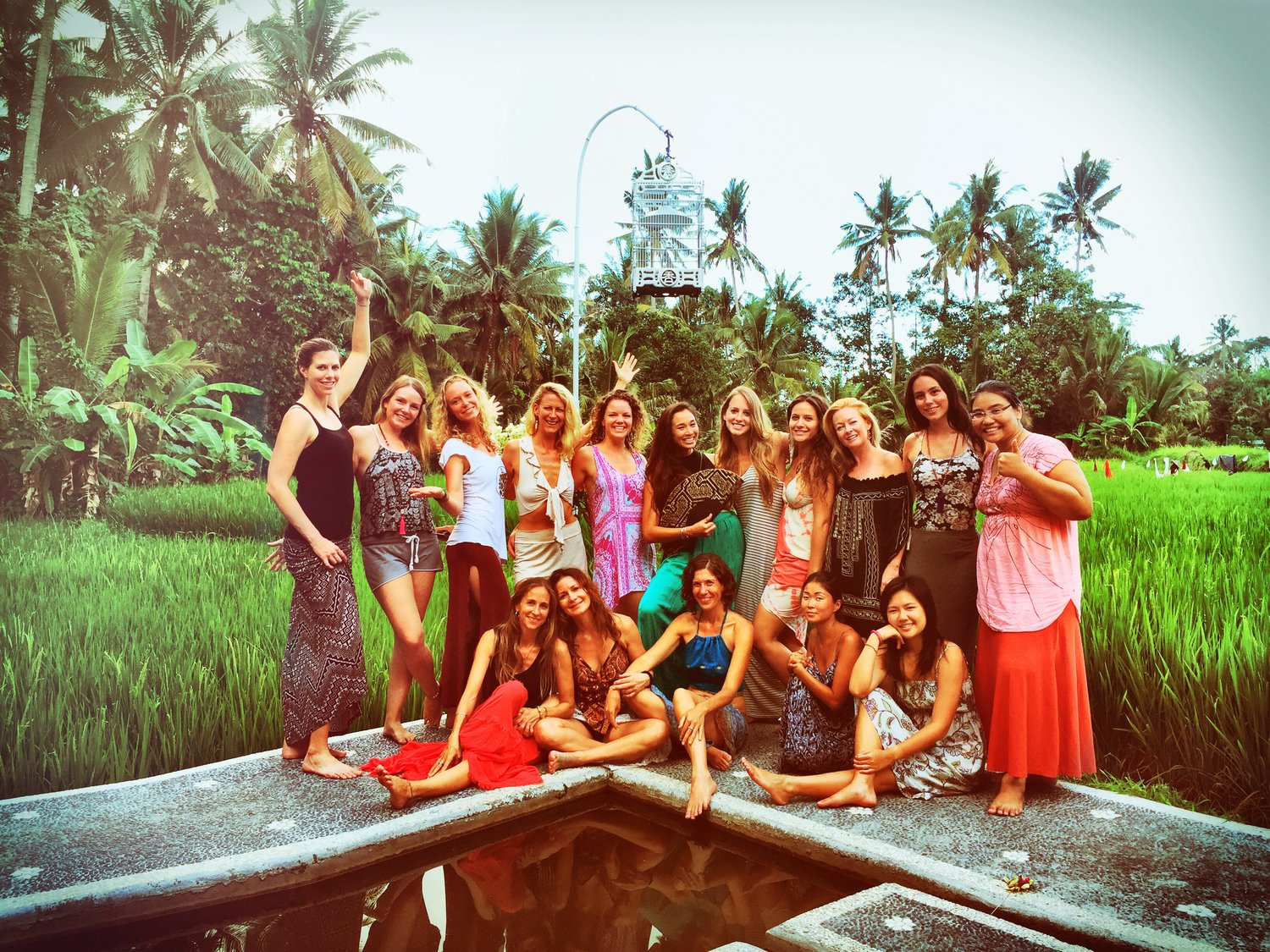 Sacred sister circle at the Bali Yoni Egg workshop with Kheyrene Danu of Women's Thrive