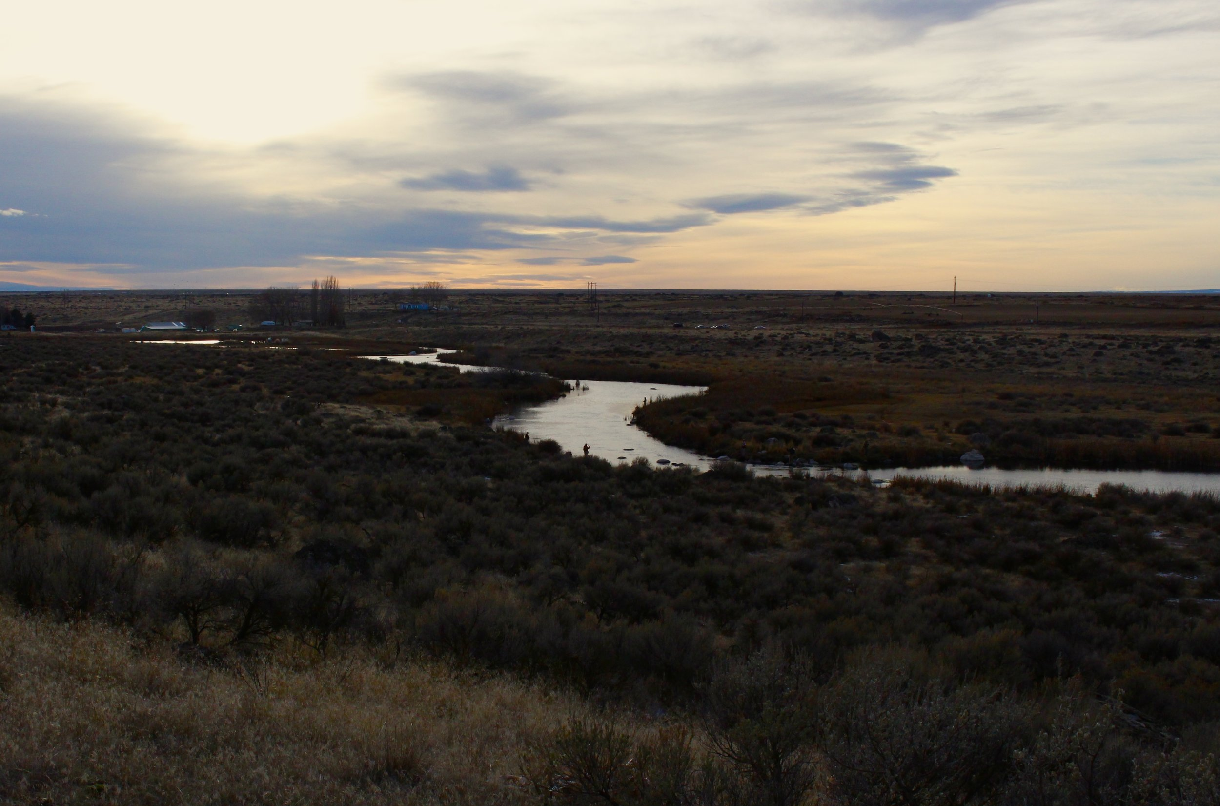 "Sunset over ""The Narrows"" on Rocky Ford Creek"