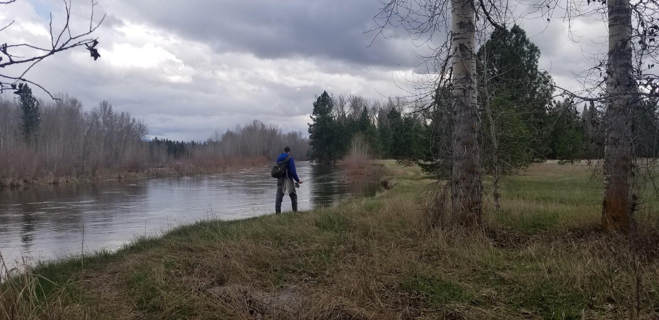 Alex on the Bitterroot River