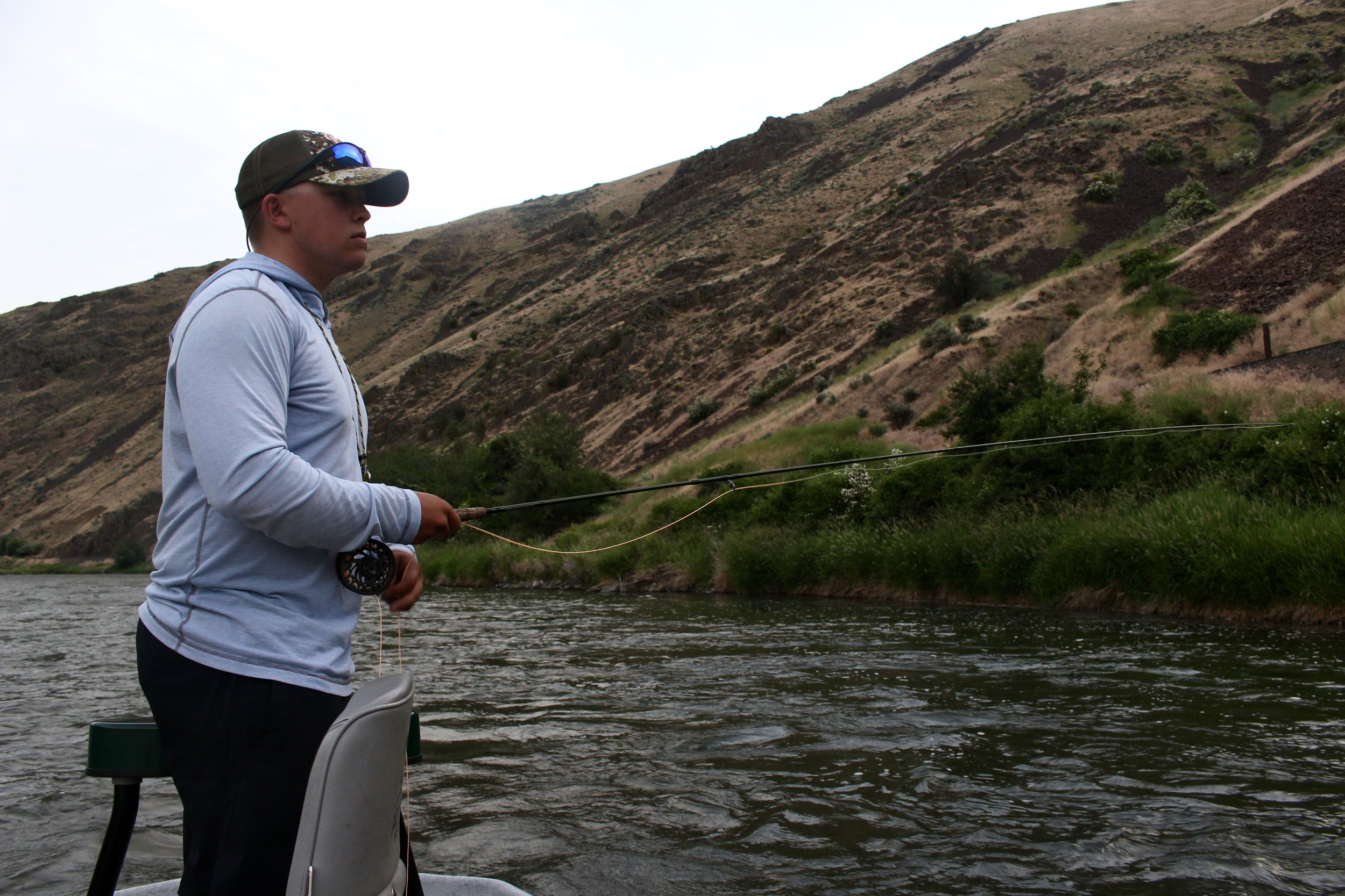 Fishing for rising trout on the Yakima River
