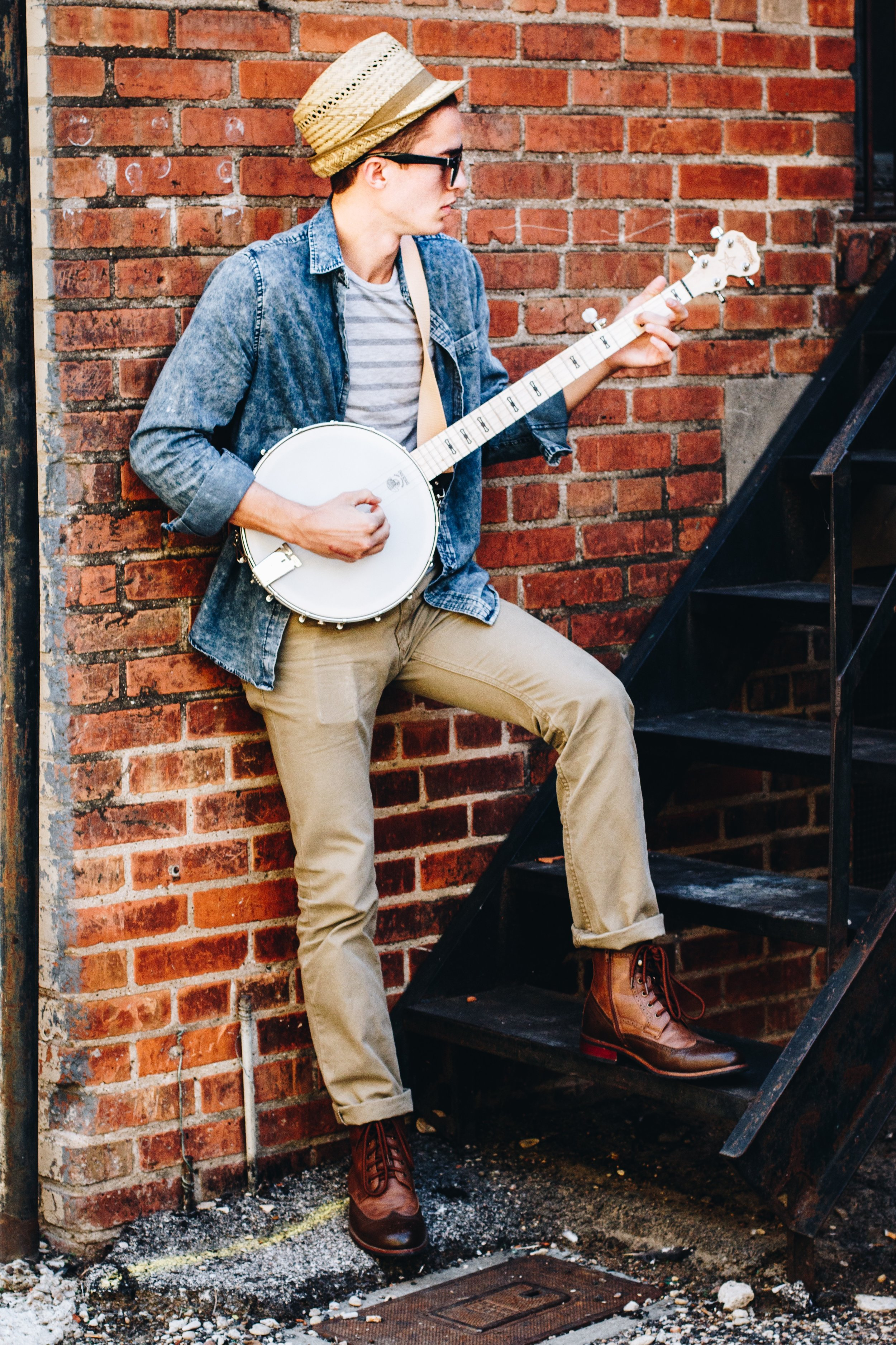 Luke Hoeft - Luke is the frontman and writer of most of Medicine Man's music. He started the group in 2016 with John Burton and Stephen Spink. The trio met as music majors at Baylor University- all three specializing in trumpet performance. In the band Luke rarely plays trumpet, focusing more on guitar, piano, banjo, and vocals. Although, he will sometimes grab a trumpet during a show and play a bit just to surprise fans. Luke currently serves as the music director at Twin Lakes Fellowship in Cedar Park, Texas and is married to Heather Hoeft of Medicine Man.