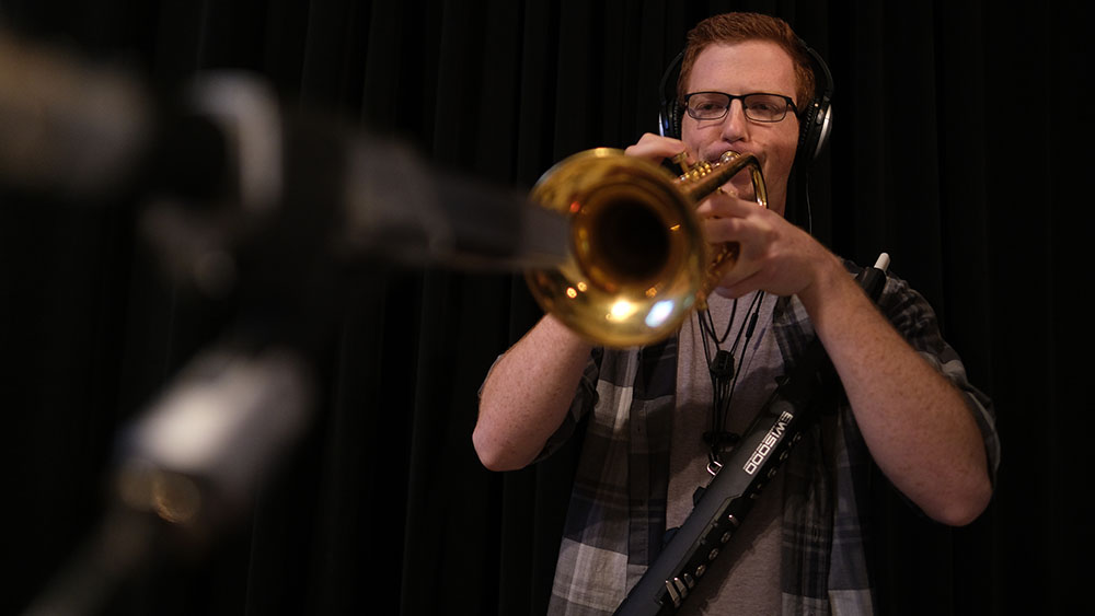 Stephen Spink - Stephen, known as Peter by most fans, is another multi-instrumentalist in the group although he is the trumpet specialist predominantly. Stephen came to Baylor University from the Denver area to study music performance where he initially connected with the original trio. As a trumpet player, he accesses both classical and jazz faculty very well. Although, most would think of his presence in Medicine Man's unique sound as