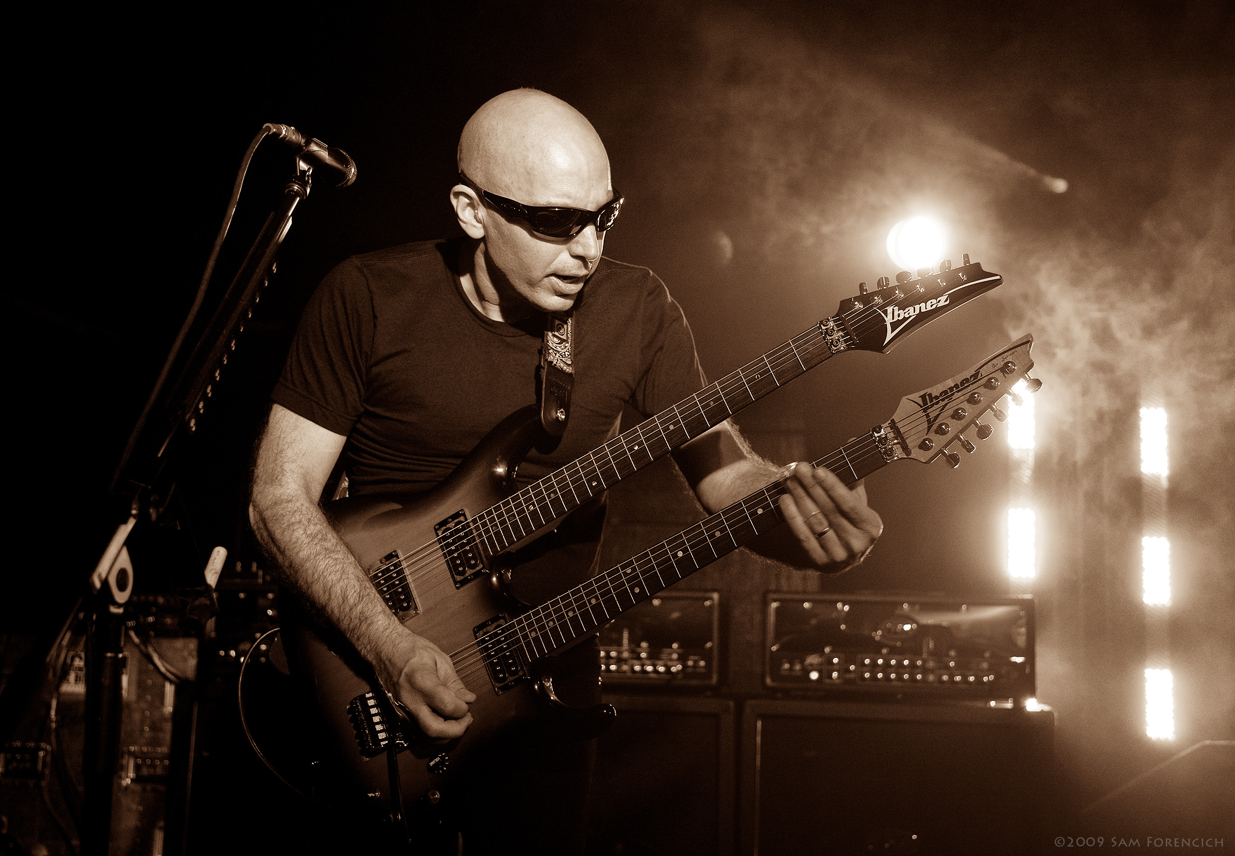 May 2009,Seattle, Washington - Joe Satriani performs with Chickenfoot at El Corazon - 2009 Road Test Tour ©2009 Sam Forencich