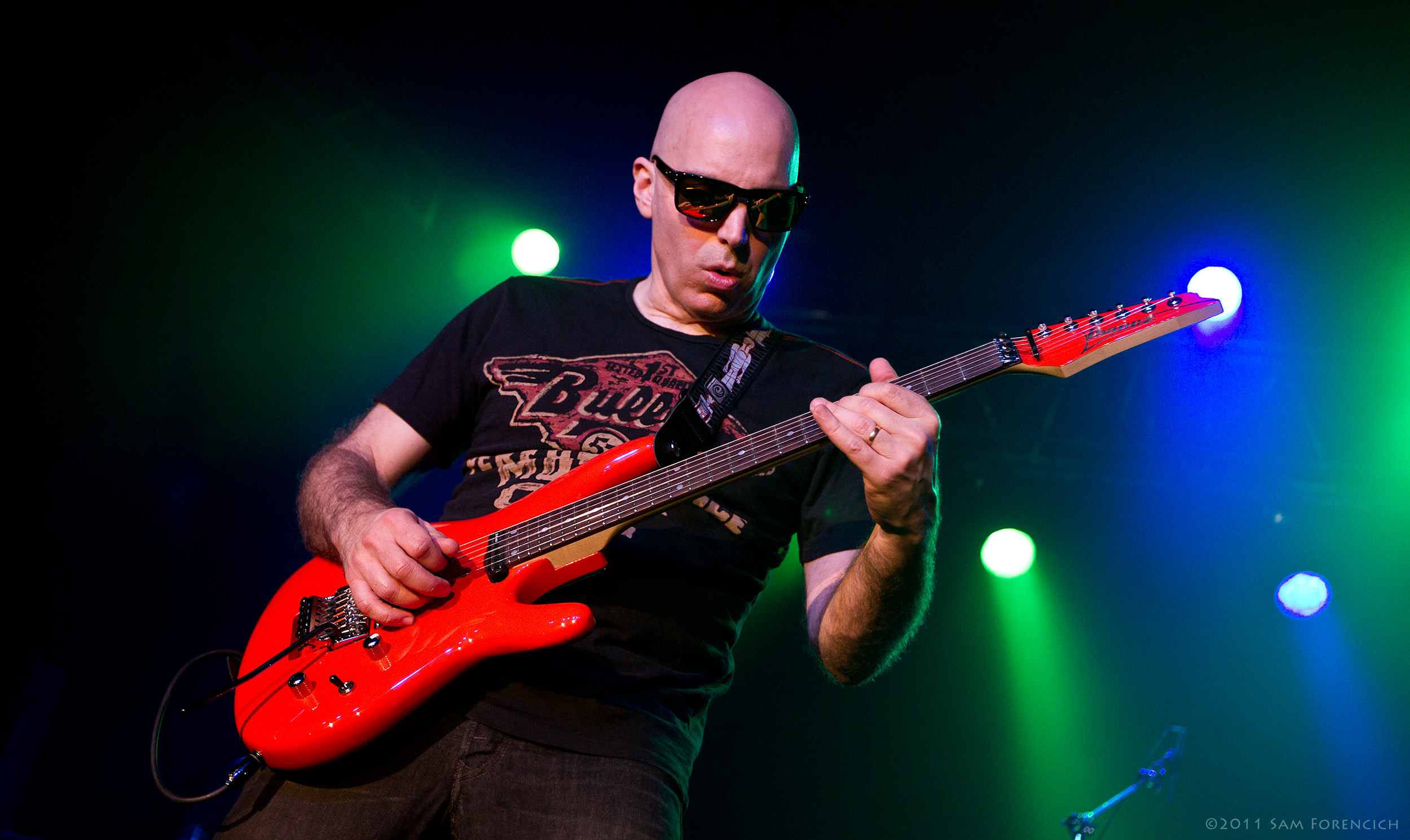 January 2011,Portland, Oregon - Joe Satriani performs at the Roseland Theater - 2011 Black Swans and Wormhole Wizards Tour ©2011 Sam Forencich