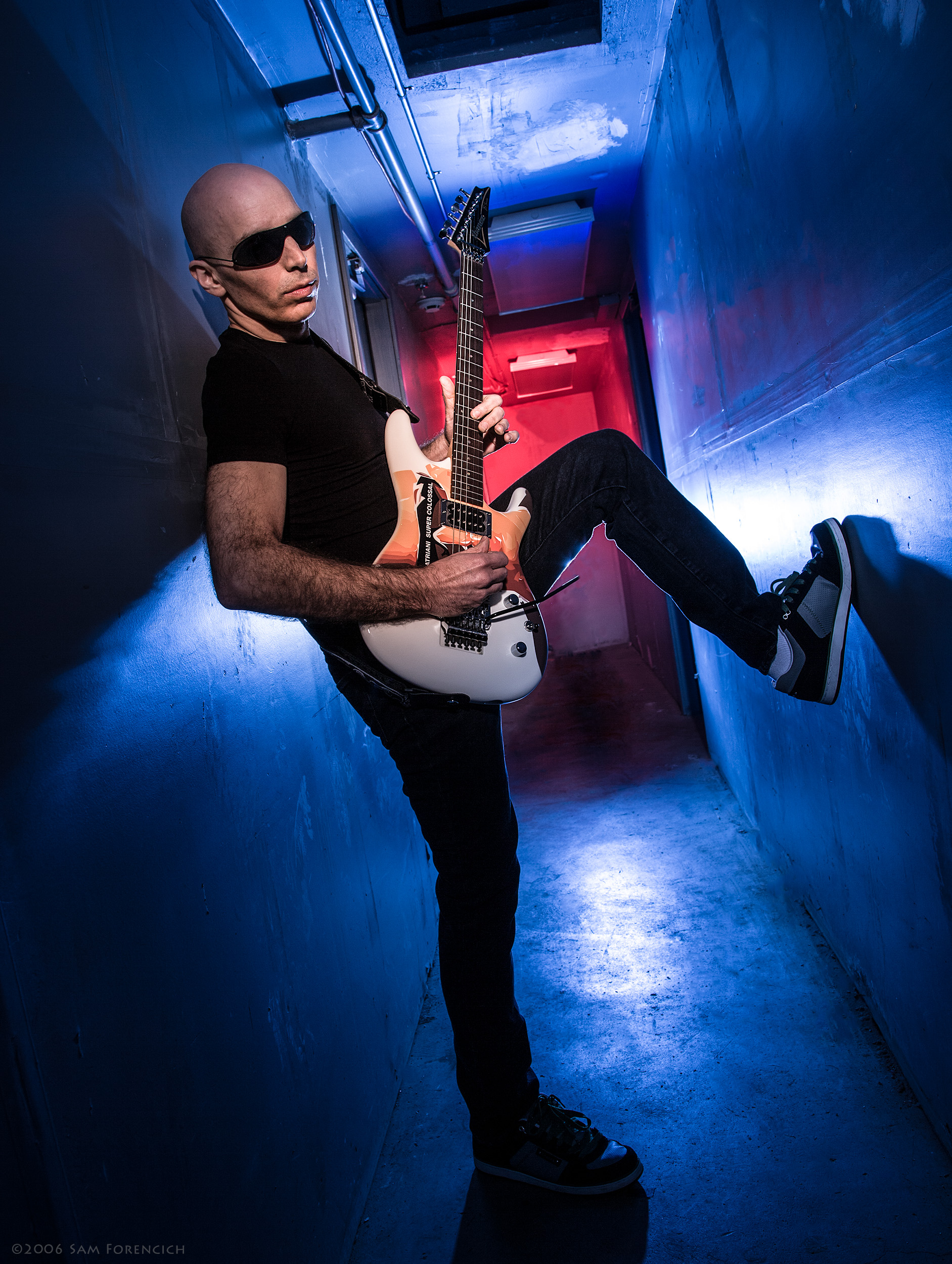 May 2009,Portland, Oregon - Backstage portrait of Joe Satriani at the Roseland Theater - 2006 Super Colossal Tour ©2006 Sam Forencich
