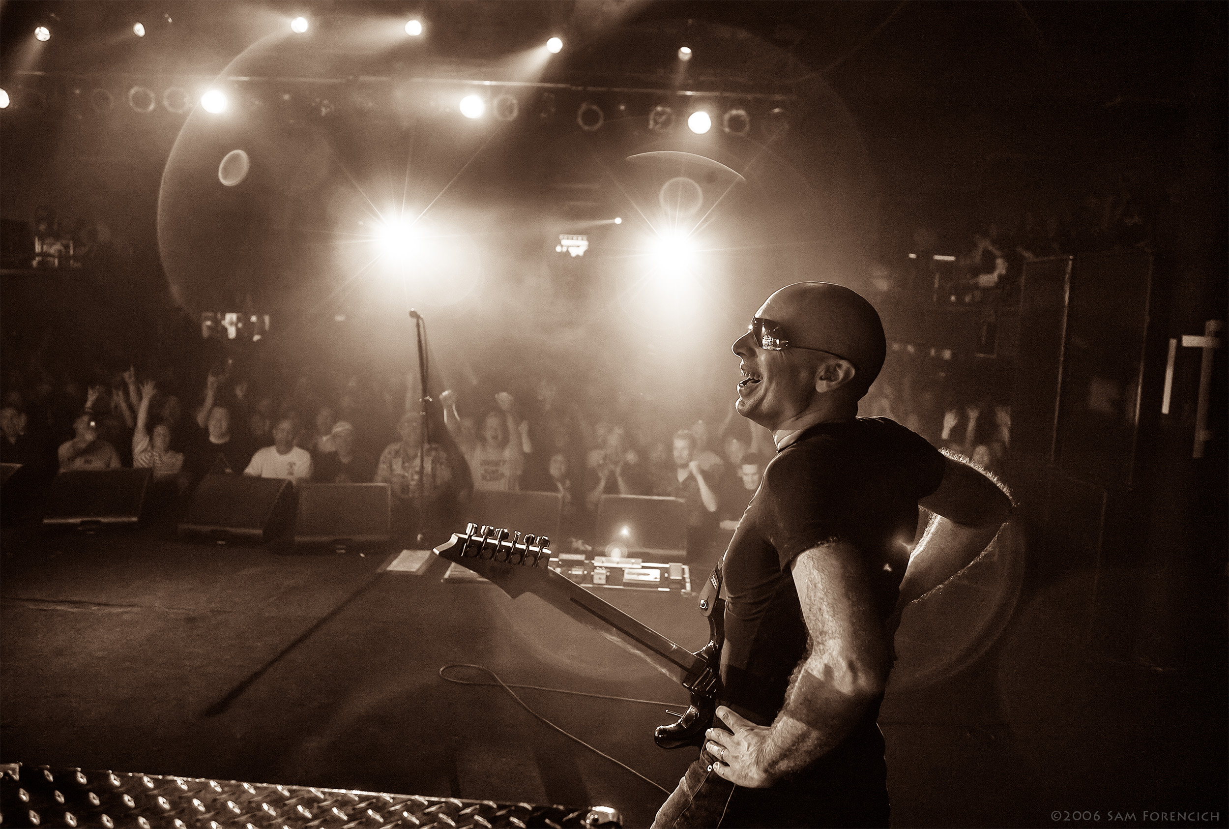 May 2006,Portland, Oregon - Joe Satriani performs at the Roseland Theater - 2006 Super Colossal Tour ©2006 Sam Forencich